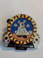 DLR Dia De Los Muertos 2010 Mickey Ghost Skull Halloween Disney Pin LE (A1)