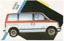 1986 Chevrolet ASTRO VAN Dealer Promotional Postcard UNUSED VG+ .1