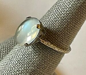 Antique 14k Yellow Gold Moonstone Ring