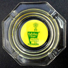 Ashtray Glass 5in Holiday Inn Logo Googie c1960s Yellow Green Nations Innkeeper