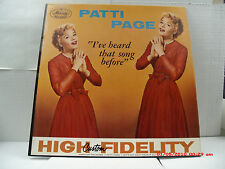 "PATTI PAGE -(LP)- I'VE HEARD THAT SONG BEFORE-INCLUDES  ""IT HAD TO BE YOU""- 1958"