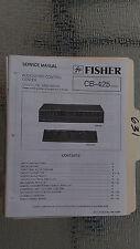 Fisher cb-425 service manual original repair book stereo a/v control center