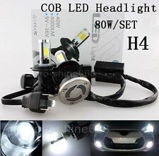 H4 9003 80W 8000LM LED Headlight Car Light Bulbs High/Low Beam 6000K White EY