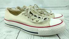 Converse Low Off White Ivory All Star Sneakers Shoes Men Sz 6 Women Sz 8