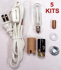 Lot of 5 - Medium Christmas Tree Wiring Kit ML2-25B6, 25 Watt Lamp Lighting Kit