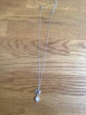 Silver Necklace With Pearl Drop