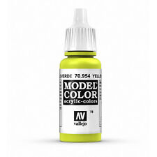 Vallejo Model Color: Yellow Green - VAL70954 Acrylic Paint 17ml Bottle 078