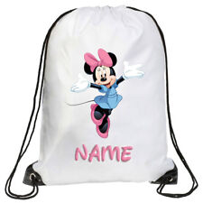 Personalised Kids Minnie Mouse Drawstring Bag School, Swimming, PE, Gymsac Large
