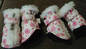 Fashion Plush Premium Fur-Comfort Pvc Waterproof Supportive Pet Shoes/boots M