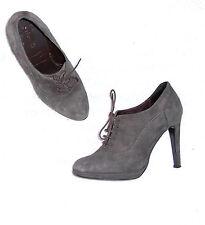 MINELLI  Escarpins  low boots laçage cuir daim gris P 37 TBE
