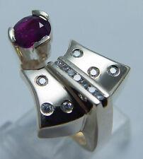 Estate Jewelry 14K Yellow Gold Quality .75ct Ruby Diamonds Unusual Ring Diamond