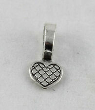 100PCS Tibetan silver Heart Glue on bail charms FC11586