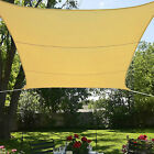 Sun Sail Shade Beige Waterproof Polyester 16.5' Ft Square Canopy Awning Shelter