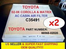 x2 For TOYOTA 02-08 COROLLA MATRIX AC CABIN FILTER+FREE Super Fast Shipping!!