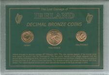 Ireland Eire Irish History Decimal Pre-Euro Bronze Retro Coin Display Gift Set