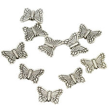 30pcs Tibetan Silver Butterfly Spacer Charm Beads 10mm Bead Jewelry Making T1