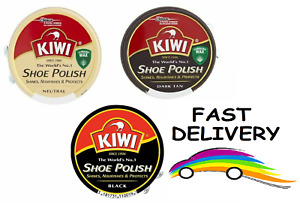 Kiwi Shoe Polish Brown, Black, Neutral Tin Shiner Nourishes & Protector Leather