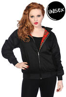 Banned Apparel Harrington Bomber Retro Black Tartan Jacket Women Men