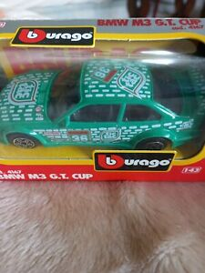 Burago 1:43 scale BMW M3 G.T Cup. Die cast model
