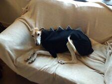 "dog Jumper dinosaur fleece whippet greyhound coat 26"" Black & grey"