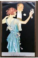 "NOS 1986 Dance ""DANCING COUPLE""Metropolitan Museum Of Art-Leyendecker Poster NIP"