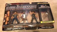 WWE Micro Aggression Triple Pack Triple H MVP Edge + Sledgehammer Figure Set NEW