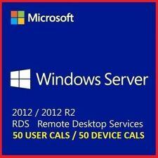 Windows Server 2012 R2 Standard+Remote Desktop Services 50 RDS USER/DEVICE CALs