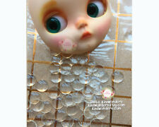 Blythe doll Eye chips 14 mm Blanc Transparent Poupée BJD pullip verre repeindre Unique