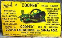 COOPER DIESEL ENGINES ADVERTISING VINTAGE SIGN ENAMEL PORCELAIN RARE COLLECTIBLE