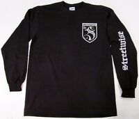 STREETWISE S Crest Long Sleeve T-shirt Urban Streetwear Tee Men L-4XL Black