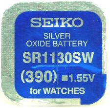 Seiko 390 SR1130SW Silver Oxide (0%Hg) Mercury Free Watch Battery Made in Japan