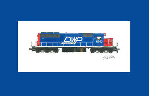 "Duluth, Winnipeg & Pacific SD40 11""x17"" Matted Print Andy Fletcher signed"