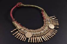 "light gold old coin 19"" Naga mala Gypsy Nepal ceremonial Tharu tribe belly dance"