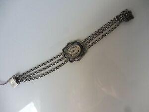 schöne, alte Armbanduhr , 835 Silber  !