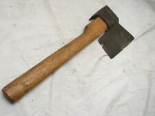 ANTIQUE BLACKSMITH HAND FORGED LATHING HAMMER HEWING HATCHET BROAD HEAD AXE TOOL