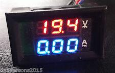 DC voltímetro amperímetro Azul 100V 10A + LED rojo voltímetro digital doble amplificador calibre