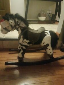 Back 2 Fun Plush Rocking Horse with Real Horse New with Tags Sounds Toddlers