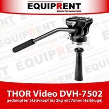 THOR Video DVH-7502 Stativkopf bis 2kg mit Dämpfung und 75mm Halbkugel (EQT43)