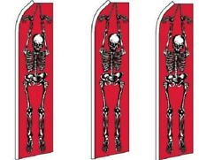 Skeleton Standard Size Swooper Flag banner sign pk of 3