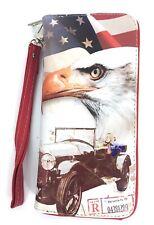 Patriotic Vintage style USA FLAG Vinyl Wallet
