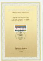 BRD ETB Ersttagsblatt 10/1994 Miteinander leben! Mi.Nr.1725