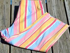 Talbots Stretch Size 12 Capri's Yellow Blue Pink Green Red Striped EUC Very Cute