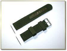 verstärktes Textil - Uhrenarmband olivgrün, 20mm breit, schnelle Lieferung (743)