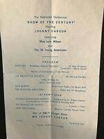 """JOHNNY CARSON RARE ORIG 1967 """"NEBRASKA CENTENNIAL SHOW"""" PROGRAM/TICK ORDER FORM!"""