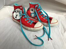 "8c77384a943e Converse All Star shoes Dr Seuss Thing 1   Thing 2"" Junior Size 2 Great"