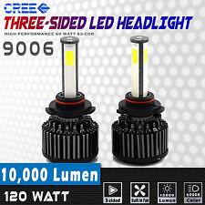 2x 9006 COB LED Headlights 10000LM 120W High Power Cree Low Beam Kit Xenon White