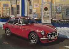 MG MGB GT V8 British Classic Car Christmas Xmas Card