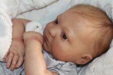 Reborn baby doll sweet newborn baby boy Eric with 3d skin OOAK
