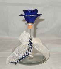STUNNING VINTAGE BERGER 0.5L DECANTER W/ ORIGINAL BLUE FLOWER ART GLASS STOPPER