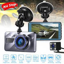 "Jeemak 4"" Dash Cam FHD 1080p Front Rear Car Camera DVR Recorder Parking Monitor"